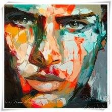 Nielly Francoise pintura a Óleo rosto figura retrato Da arte da Parede Pictures for living room home decor quadros caudros decoracion
