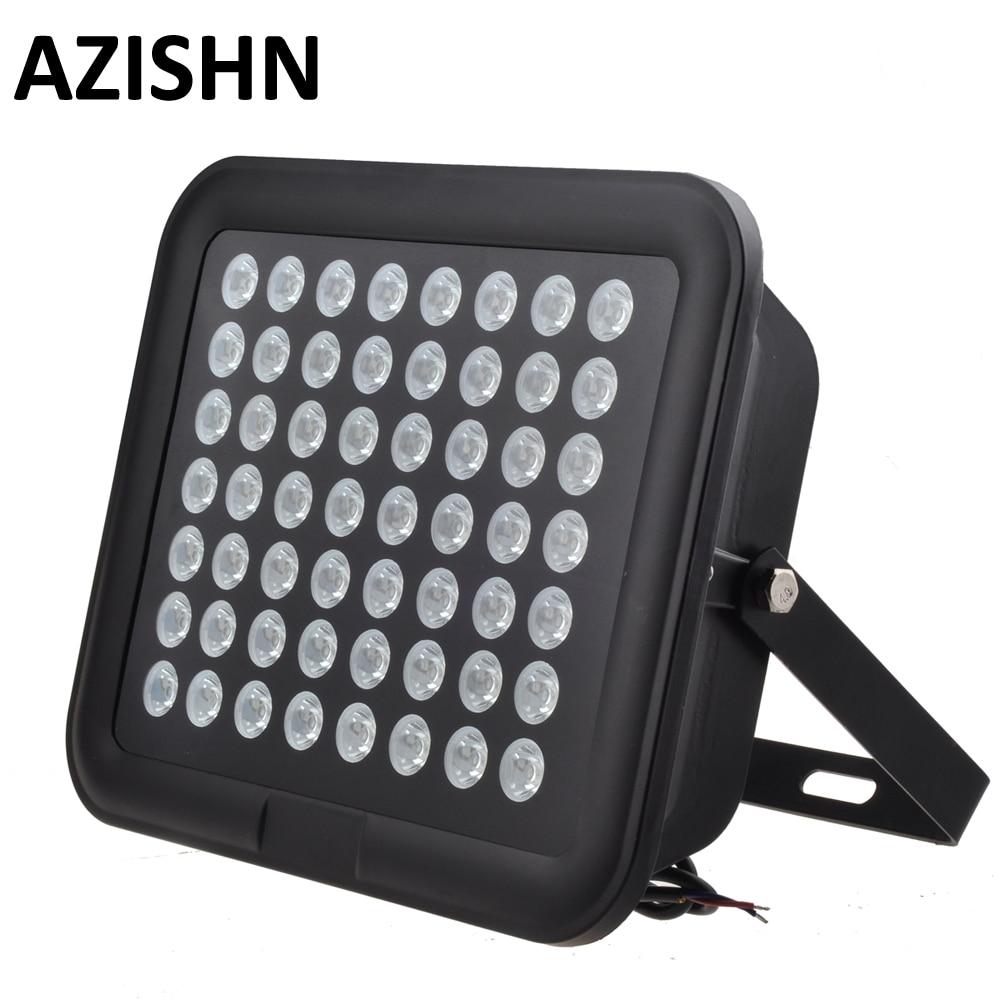 56 pièces IR LED CCTV LED S IR illuminateur infrarouge 850nm vision nocturne AC 220 V IP65 métal étanche pour caméra de surveillance CCTV