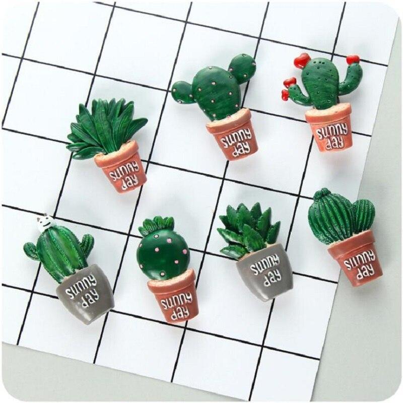1 St 3d Leuke Tropische Plant Resin Magneten Voor Kinderen Woondecoratie Ornamenten Beeldjes Muur Postbox Speelgoed Voor Kids Wees Vriendelijk In Gebruik