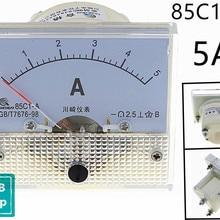 1PCS 85C1-A 5A DC Analog Meter Panel AMP Current Ammeters 85C1 0-5A Gauge