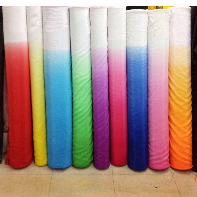 Medidor gradiente camisas material de roupa dança 2 tone koshibo tecido chiffon grosso tecido