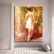 Frameless DIY Digit Canvas Oil Painting By Numbers Kits Coloring Handpainted Ballet Dancing Girl Pictures Home Wall Decor