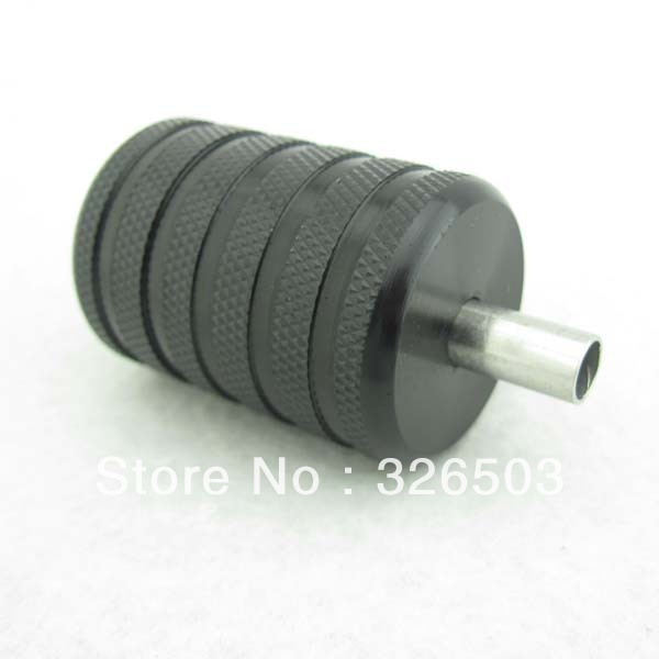 One 35mm Black Aluminum Alloy Tattoo Grip With Back Stem & Set Screws AGR35-A