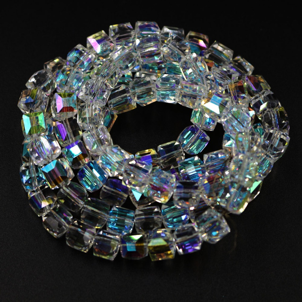 6MM FIREWORKS CRACKLE AGATE GEMSTONE GALA MULTI FACETED ROUND LOOSE BEADS 14.5/""