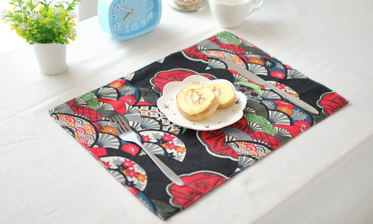 [RainLoong] Antique Table Mat Pad With Lace Thermal Insulation For Tableware Dinning Kitchen Decoration 40x30cm