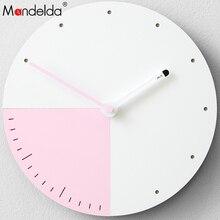 Mandelda Wall Clock modern Design Brief Home Decoration Accessories Modern Wood Silent Living Room Watches Decor