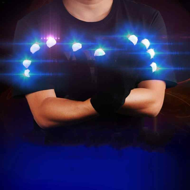 Halloween Rave Light Festive Supplies Luminous Cool  Colorful   Christmas Day Party Entertainment Light Show Glowing Gloves