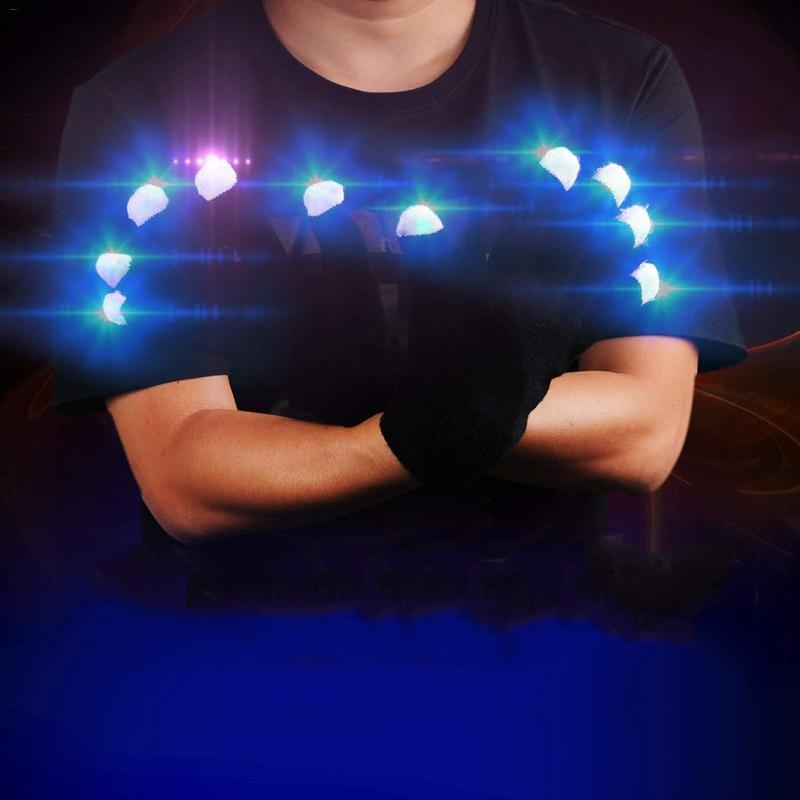 Halloween Rave Light Festive Supplies Luminous Cool  Colorful   Christmas Day Party Entertainment Light Show Glowing GlovesHalloween Rave Light Festive Supplies Luminous Cool  Colorful   Christmas Day Party Entertainment Light Show Glowing Gloves
