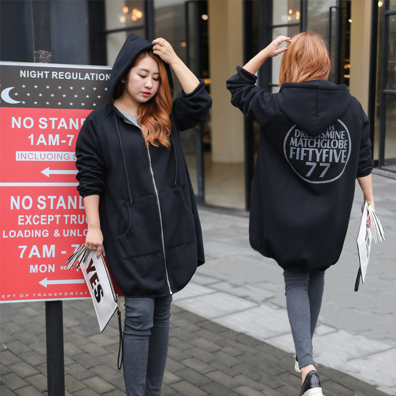 b476b72c0c9 Large Sizes Xxxl Fleece Lined Hooded Coats Jackets For Women Plus Size Coat  Ladies Casual Hoodies