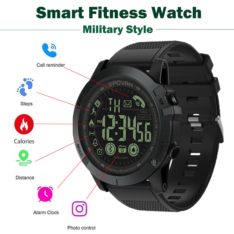 Pop Männer Smart Uhr Military Style Fitness Tracker Pedometer smartwatch Remote Kamera Grade Super Tough Smart Uhren Pk T1 Takt