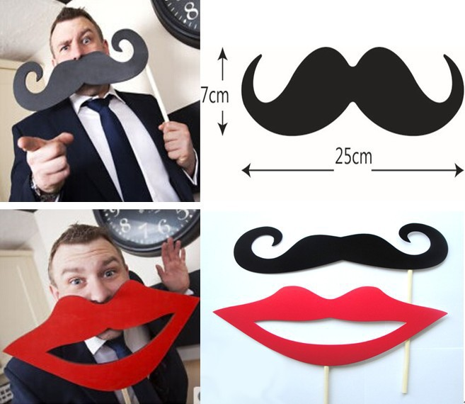 ツ)_/¯Grande divertida foto atrezzo bigote y labio rojo boda foto ...