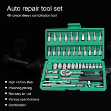 car mechanic tools repair tool set box hand auto kit socket professional wrench set with ratchet auto kits herramientas auto стоимость