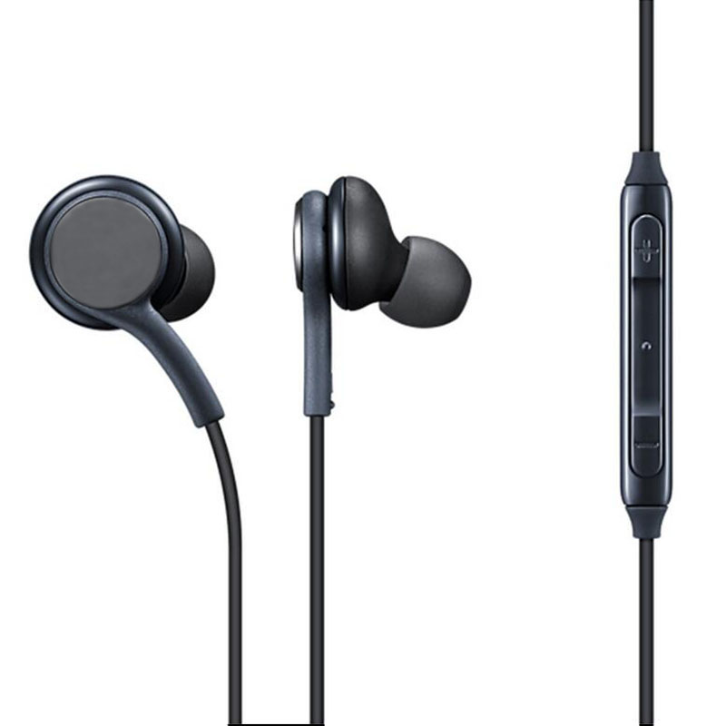 3,5mm auriculares Auriculares auriculares micrófono Control de volumen para Samsung Galaxy S10 S9 S8 más S7 S6 borde Nota 9 8 7 auriculares Bass auriculares