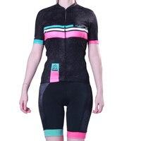 夏の女性の半袖サイクリングジャージ抗汗スポーツウェア通気性サイクリング衣類バイク/自転車ウエアを設定しますスーツ -