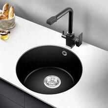 Stone Circle Sink Single Trough Kitchen Sink Table Hand Basin Granite Sink  Basin Bottom Basin LU4276
