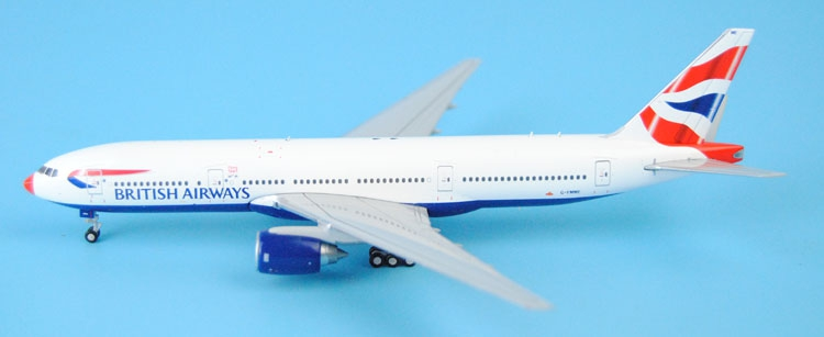 Special offer JC Wings 1: 400 XX4003 British Airways B777-200ER G-YMME Red nose Alloy aircraft model Collection model Holiday 1 400 jinair 777 200er hogan korea kim aircraft model