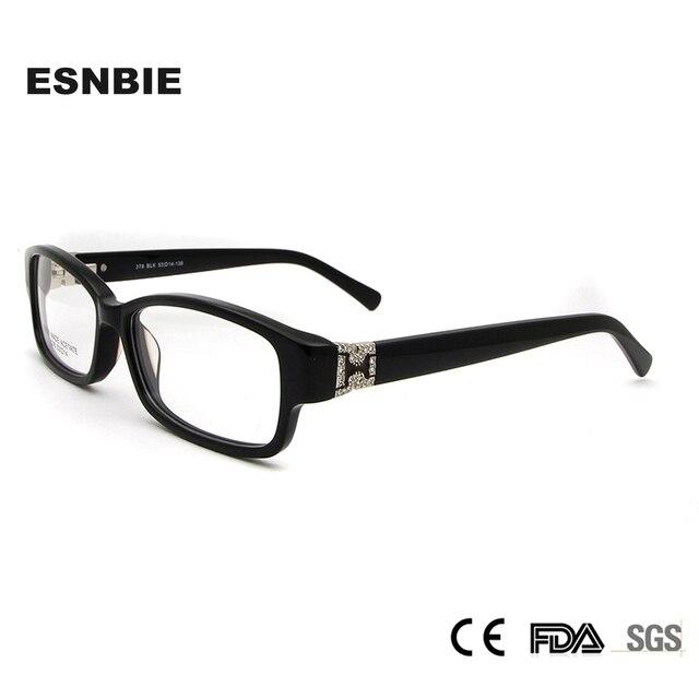 4f158958dd1e Acetate Optical Frame Spectacle Women Square Luxury Eyewear Brands Designer  Rhinestone Eyeglass Frames Spring Hinge Women