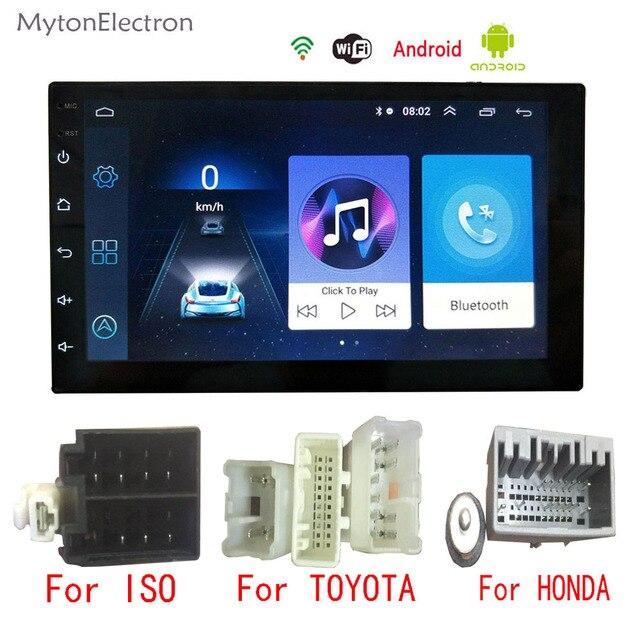 Android Car Radio Multimedia Audio Stereo FM 2din GPS Navigator Bluetooth Dynamic camera For Volkswagen Honda toyata CR-V