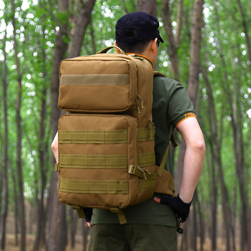 Nouveau Style 55L imperméable à l'eau en plein air voyage tactique sac à dos de haute qualité militaire sacs à dos unisexe Camping alpinisme sac