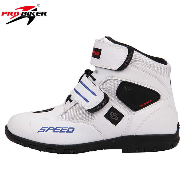 PRO-BIKER Breathable Motorcycle Boots Moto Shoes Motorcycle Non-slip Riding Racing Motocross PU Leather Shoes for Men Women brand nerve motorcycle riding protection pants motocross moto racing gear breathable jeans trousers for men and women summer