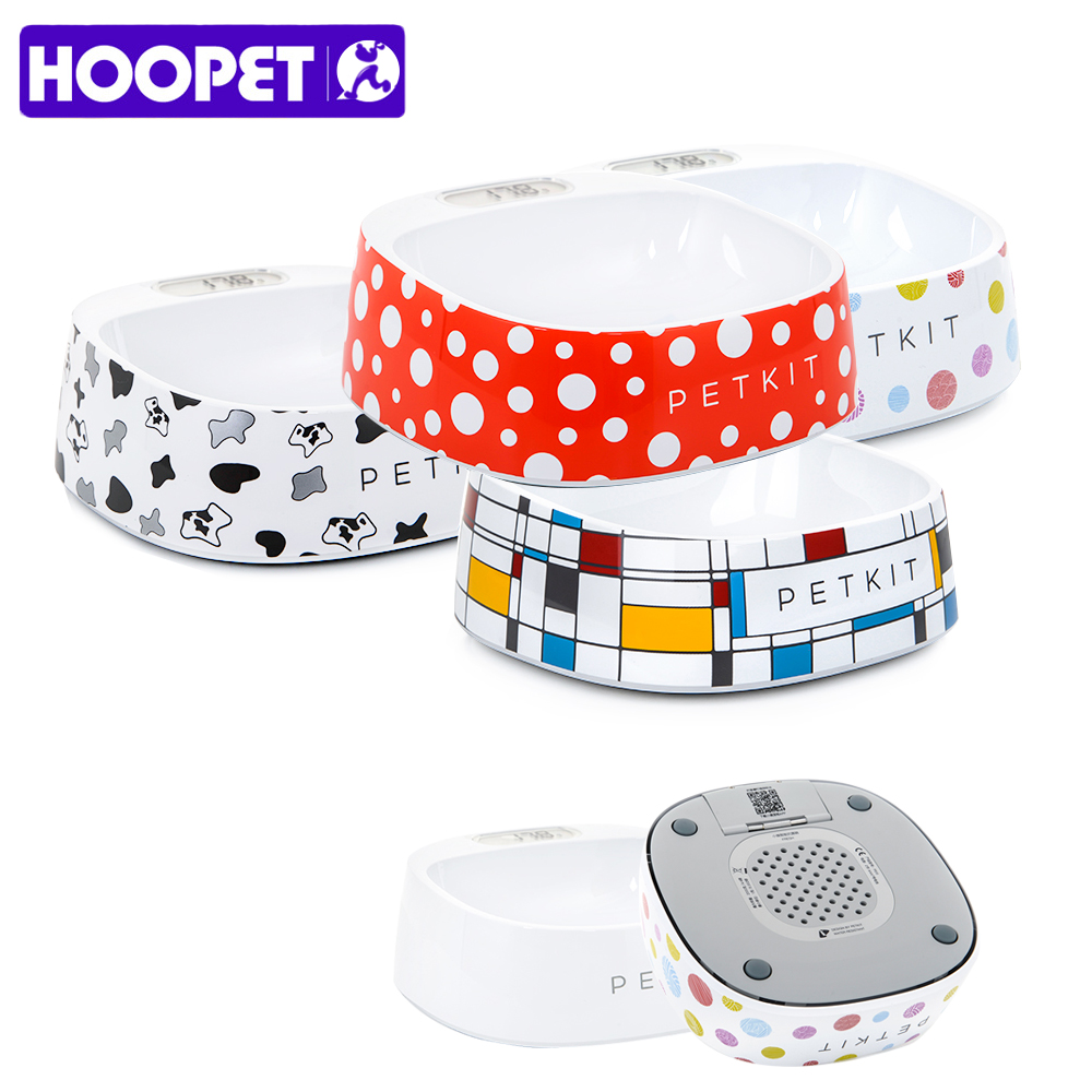 Hoopet New Dog Smart Bowl Eating Drinking Convenient Safe Anti-microbial 5 Style Pet Product