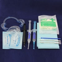 100 Pcs 44 CP Carbamide Peroxide Tooth Cosmetic System With Dual Soft Mouth Tray In Office