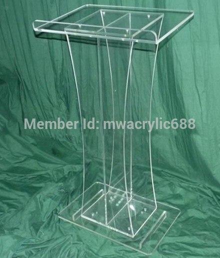 Free Shipping Beautiful Simple Elegant Acrylic Podium Pulpit Lectern Decoration Plexiglass