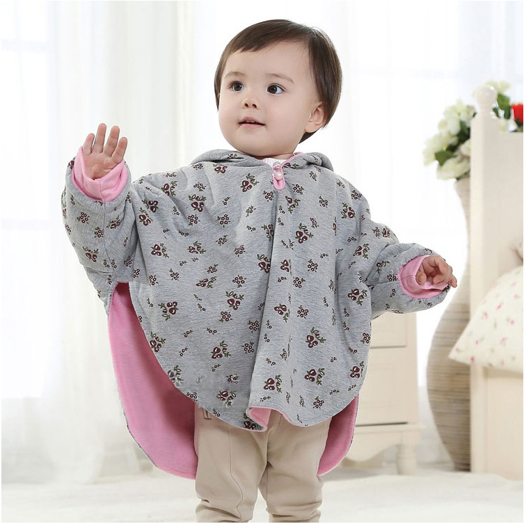 High Quality Baby Cloak Two-sided Wear England Style Newborn Winter Thicking Coat Jacket Infant Outwear Baby Cape