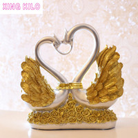 XING KILO Luxury Home Living Room Decorate Dancer Swan Kiss Decoration TV Cabinet Wine Cabinet Decoration Crafts Wedding Gifts