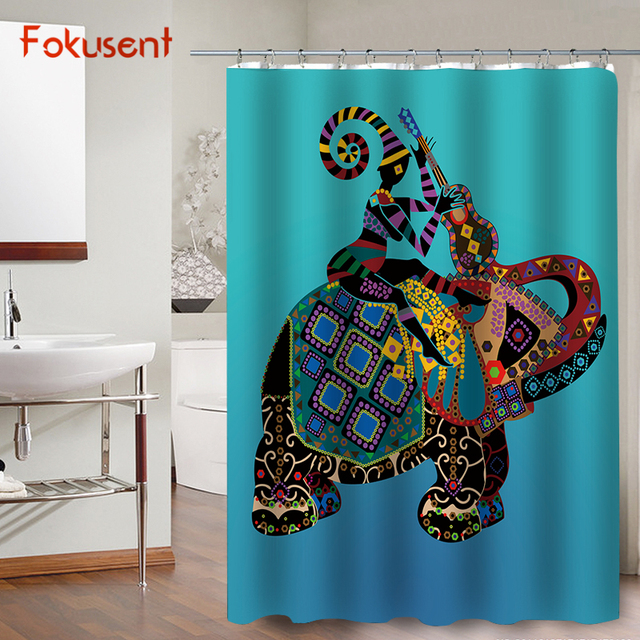 Fokusent New Design Blu Sfondo Colorato Animale Mandala Elefante E