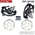 TRP Spyre Legierung Mechanische Disc Bremssattel TRP SPYRE bremssättel Vorne/Hinten/Paar w/oder w/ o 160mm Rotor mit Adapter Schrauben