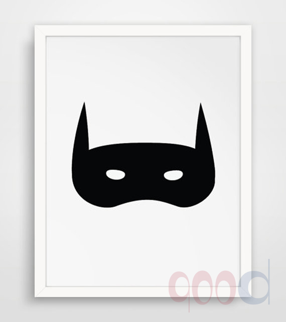 Cool Mask Canvas Painting Poster, Wall Pictures For Home Decoration, Frame not include 220