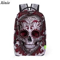 Women Men Backpack 3D Galaxy Travel Satchel Bagpack Rucksack Skull Printing Personality Shoulder School Bag Mochila
