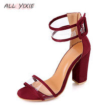ALL YIXIE 2019 Spring and Summer New Fashion Buckle Womens Shoes High Heels Sandals Wild Party Elegant Platform Ladies