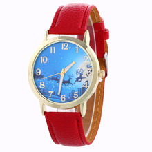 2017 Hot Sale Christmas Gift Women Men's Watches Pattern Analog Clock Christmas Pattern Quartz Ladies Vogue Wristwatches F3