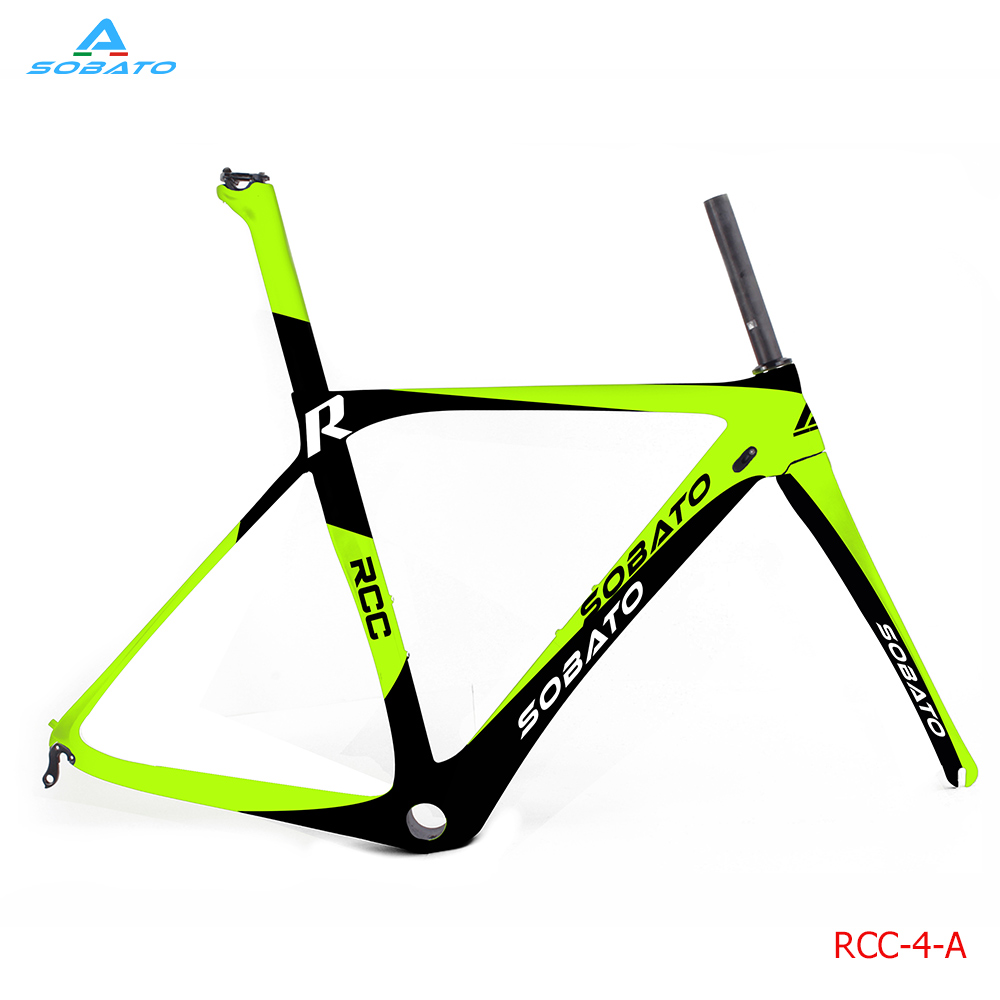 New arrival Beautiful green color painting Super light carbon road frame China carbon aero frame fork seatpost carbon bike frame kinston cute girl pattern pu plastic case w stand card slot for iphone 6 4 7 brown yellow