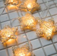 3M 20 Led New Heart ,Star LED String Light Christmas Events Party Decoration Lights Colorful Holiday