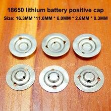 100pcs/lot 18650 Lithium Battery Positive Large Tip Cap Disassemble Accessories Flat Insulation Pad