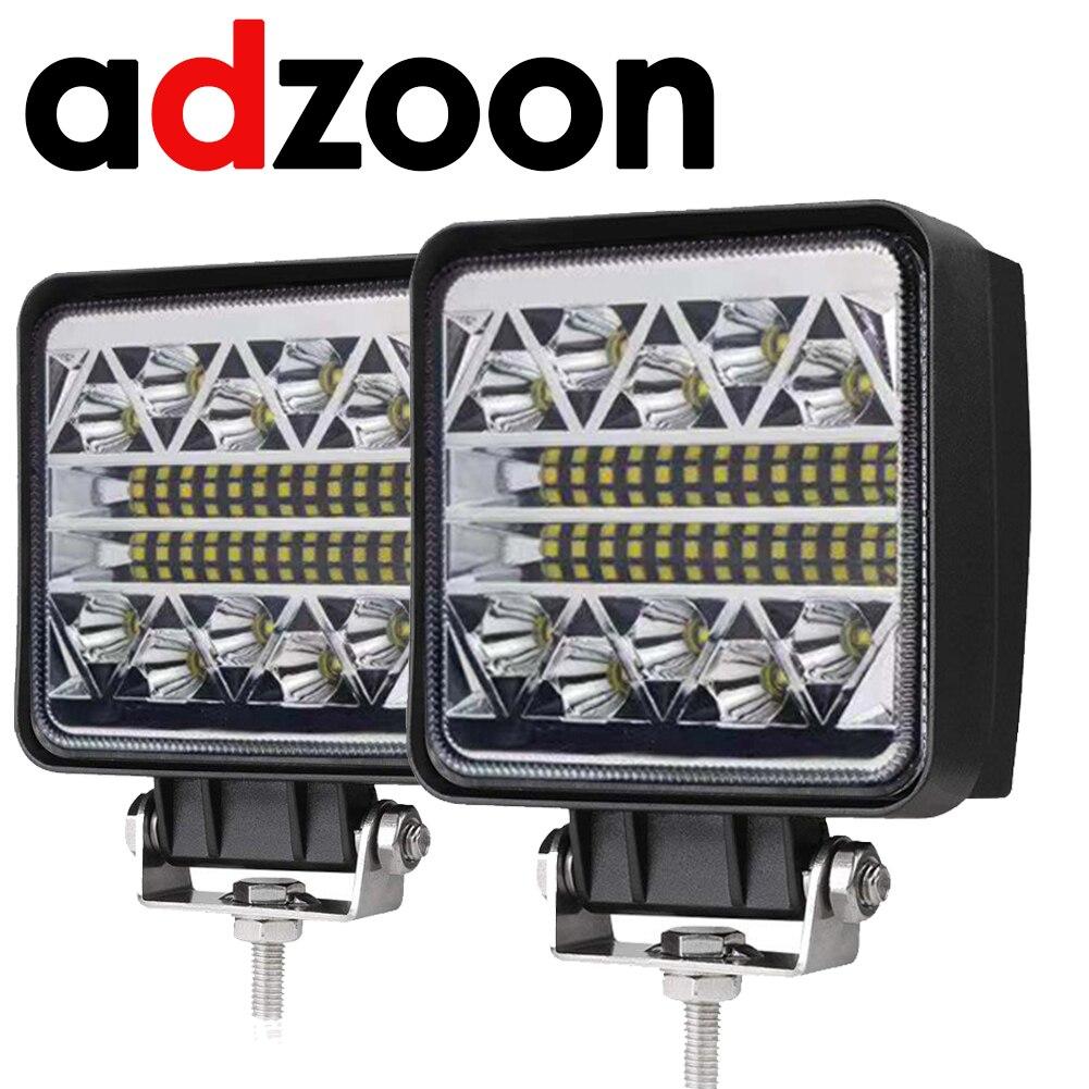 ADZOON 4inch 126w LED Work Light 12v 24v for Off Road Truck Bus Boat Fog Light Car Light Assembly