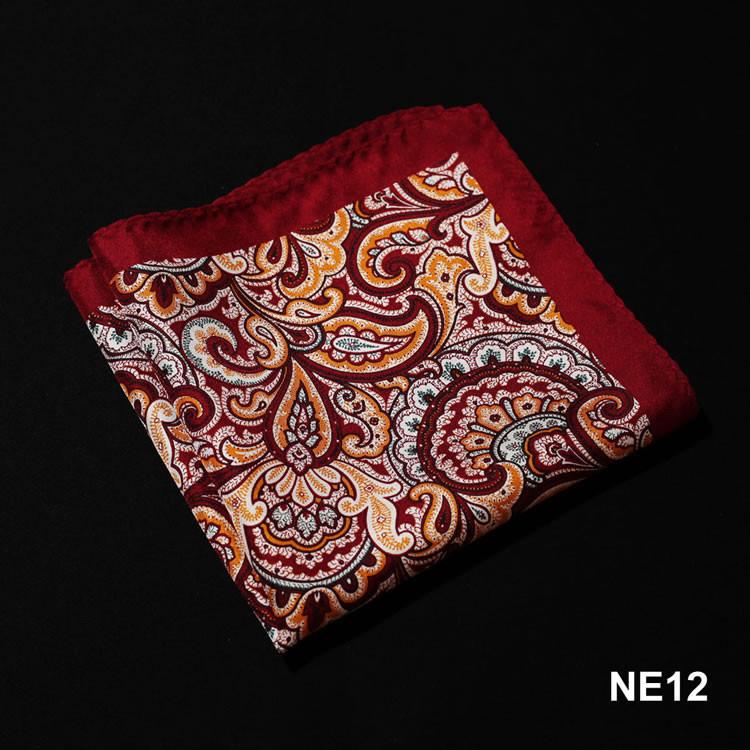 NE12 HN08R1 Red Orange Paisley
