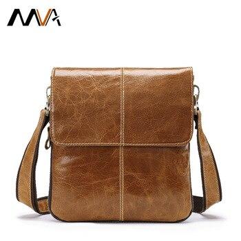 WVA Men Shoulder Bag Genuine Leather Messenger Bags For Men Small Crossbody Bags Male Men's Leather Bag Handbag bolsas