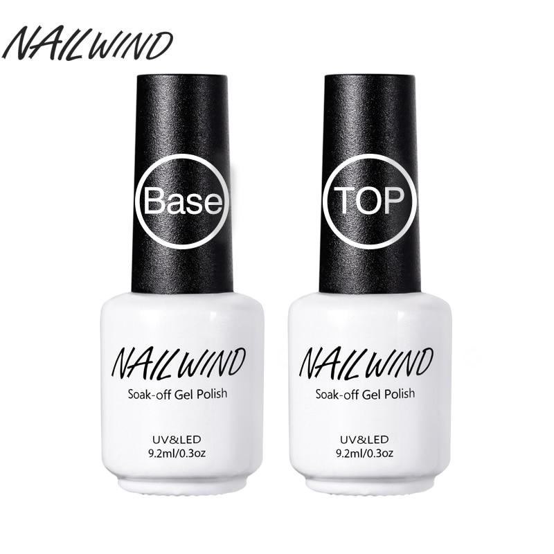Nailwind Лаки для ногтей Основа для ногтей 2 шт./лот 9.2 мл Soak Off Лаки для ногтей Long-Lasting Nail Гель-лак Дизайн ногтей Лаки гель лак