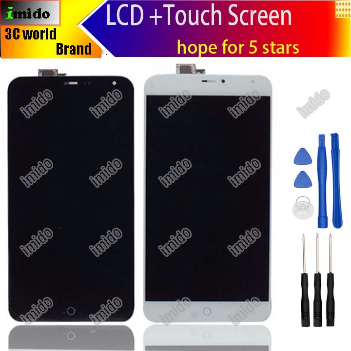imágenes para 5.36 pulgadas negro blanco para meizu mx4 Panel de Pantalla LCD con pantalla táctil asamblea de Cristal para meizu mx4 + herramientas