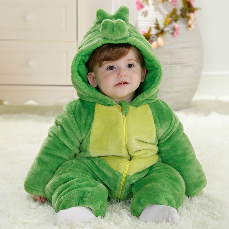 Christmas Baby Overalls Green Diasour Winter Cotton Baby Girl Romper Halloween Costume 1 Year Toddlers 2018 Baby Clothes RL11-11 cute animal infant baby girl boy clothes halloween christmas photography costume novelty jumpsuits overalls romper hat shoes