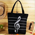 2017 New Women Girls Canvas Musical Shopping Shoulder Bag Notes Totes Handbag Large High Quality Free Shipping P317