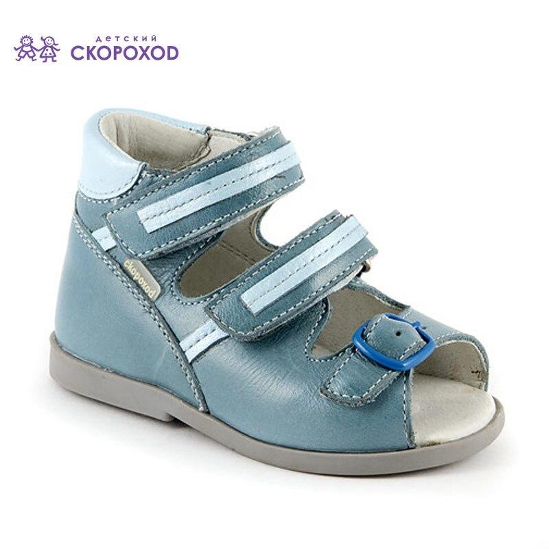 Skorohod sandales pour garçon bébé chaussures été en cuir véritable orthopédique nouveau best-seller pas cher production russie