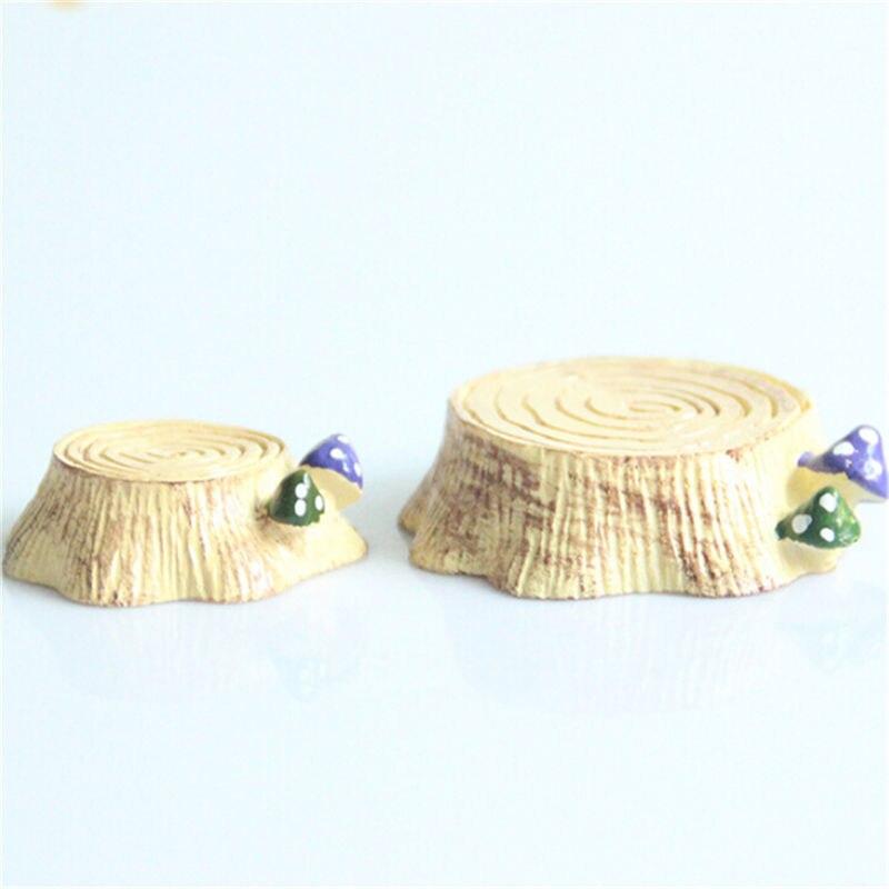 1pcs Mini Tree Stool Resin Stump Fairy Garden Miniatures