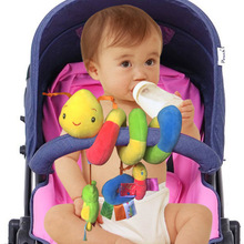 Multifunctional trolley around the crib hangs Plush Stuffed bell-ringing toy neonates and infants hang bell toys