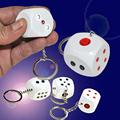 Schocker Funny Handshake Electric Shocking Dice Key Ring Joke Trick Prank Toy Party Gift