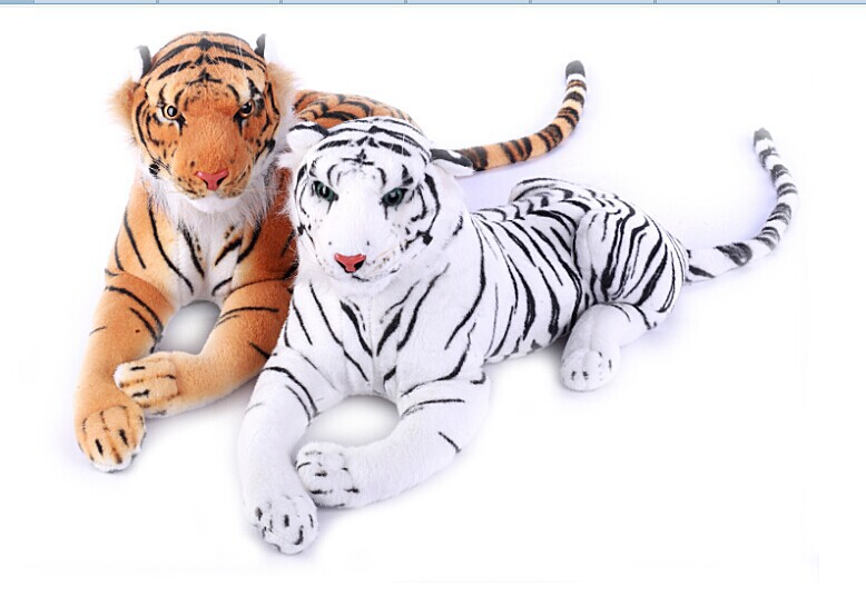 about 110cm prone tiger simulation tiger  white or yellow tiger plush toy doll gift w3972 stuffed animal 110cm plush tiger toy about 43 inch simulation tiger doll great gift free shipping w018